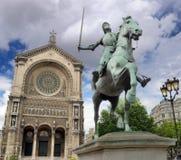 Jeanne D'Arc。 免版税库存图片
