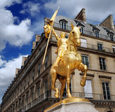 Jeanne d'Arc. Statue of Joan of Arc on Place des Pyramides in Paris, France Royalty Free Stock Image