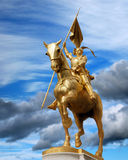 Jeanne d'Arc. Statue of Joan of Arc (Jeanne d'Arc) on Place Pyramides in Paris, France Stock Images