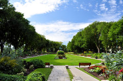 Jeanne D'arc garden. Flowers at the beautiful Joan of Arc garden in Quebec City (Jeanne D'arc Royalty Free Stock Image