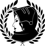 Jeanne darc and laurel wreath Royalty Free Stock Images