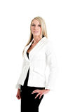 Jeanne-Marie. Dressed in business Black and White suit Royalty Free Stock Photography