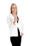 Jeanne-Marie 4. Jeanne-Marie dressed in business Black and White suit 4 Royalty Free Stock Photography