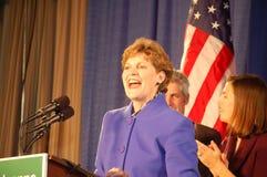 Jeanne Shaheen bij nacht 08 van de Verkiezing Stock Foto's