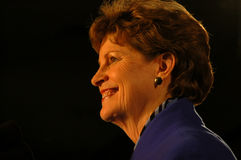 Jeanne Shaheen election  night 2008 Royalty Free Stock Images