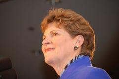 Jeanne Shaheen na noite 08 da eleição Foto de Stock Royalty Free