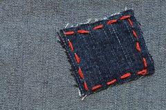 Jeans-Änderung am Objektprogramm Stockfoto