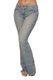 Jeans är på kvinnligt spensligt diagram Royaltyfri Fotografi