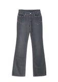 Jeans är på vit bakgrund arkivfoton