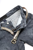 jeans öppnar Arkivbild