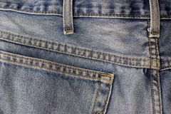 Jeans. Detail Royalty Free Stock Photo