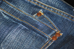 Jeans. Blue jeans / denim fabric texture stock image
