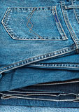 Jeans. Stack of man's jeans Stock Photos