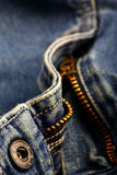 Jeans. Close up of a zipper Royalty Free Stock Photos