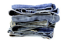 Jeans. Blue jeans with white background Stock Photos