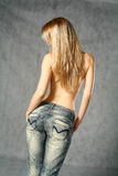 In Jeans Royalty Free Stock Photos
