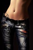 In jeans Stock Fotografie
