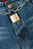 Jeans. Blue denim jeans close up Stock Photos