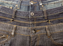 Jeans. Three pair of jeans as background Royalty Free Stock Photo
