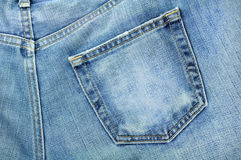 Jeans. Back pocket of jeans,isolation of jeans Royalty Free Stock Images