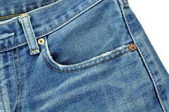 Jeans. On white background Stock Photo