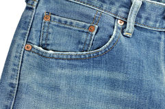 Jeans. On white background Royalty Free Stock Photography
