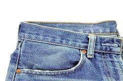 Jeans. On white background Stock Photos