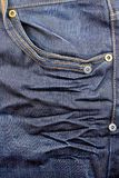 Jeans. Pocket of blue jeans close up Royalty Free Stock Images