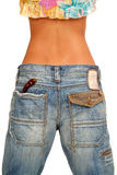 Jeans. Fashionable jeans on the girl Stock Photo