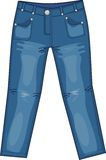 Jeans stock illustrationer