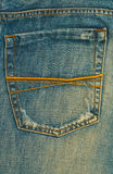 Jeans. Denim jean texture and empty pocket Stock Photos