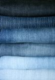 Jeans. Combined in a pile Royalty Free Stock Images