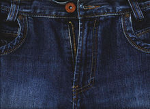 Jeans. The image of a jeans material Royalty Free Stock Images