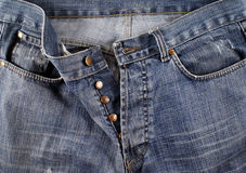 Jeans. A blue jean pants unbuttoned Royalty Free Stock Image