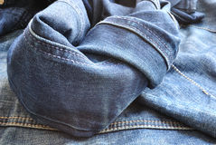 Jeans abstraction Stock Photos