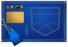 Jeans Accessories In Blue Royalty Free Stock Photography