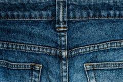 Jeans achterzak met een close-up Stock Afbeelding