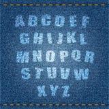 Jeans Alphabet Stock Photo