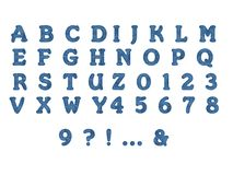 Jeans-Alphabet im transparenten Hintergrund vektor abbildung