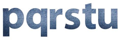 Jeans Alphabet Letters P-U Stock Images