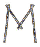 Jeans alphabet M Stock Image