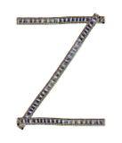 Jeans alphabet Z Stock Photography