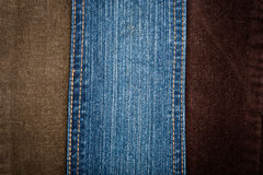 Jeans And Corduroy Textures Royalty Free Stock Photos