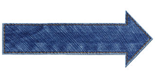 Jeans arrow Royalty Free Stock Image
