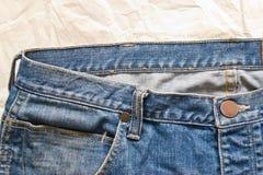 Jeans astratti di struttura Fotografia Stock