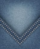 Jeans avec l'angle Image stock