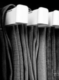 Jeans B&W. Jeans hanging in closet Stock Images