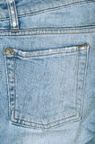 Jeans back blue pocket Stock Photo