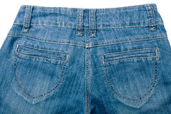 Jeans back part Stock Images