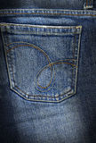 Jeans back pocket Stock Images
